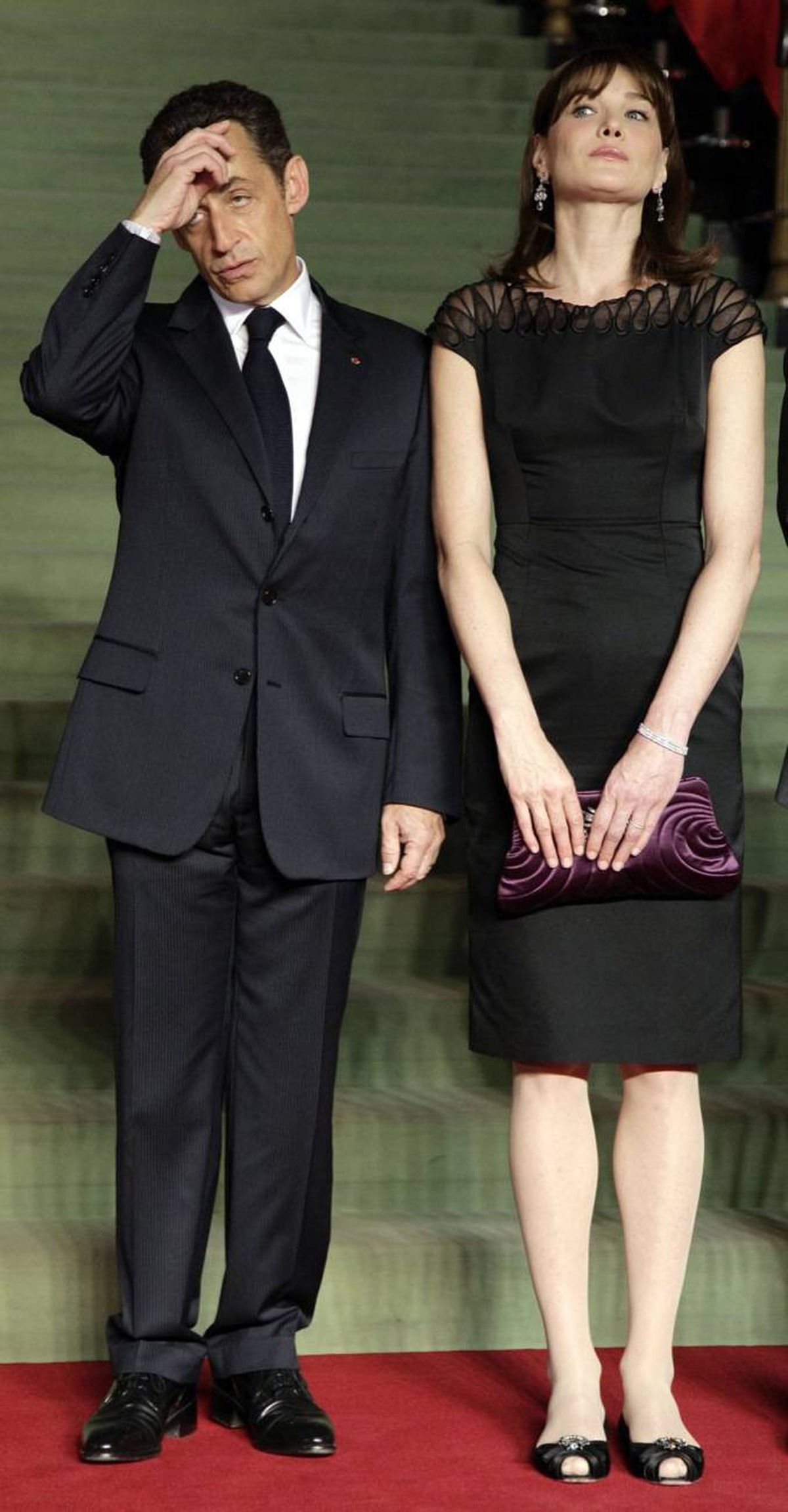 French President Nicolas Sarkozy and French first Lady Carla Bruni