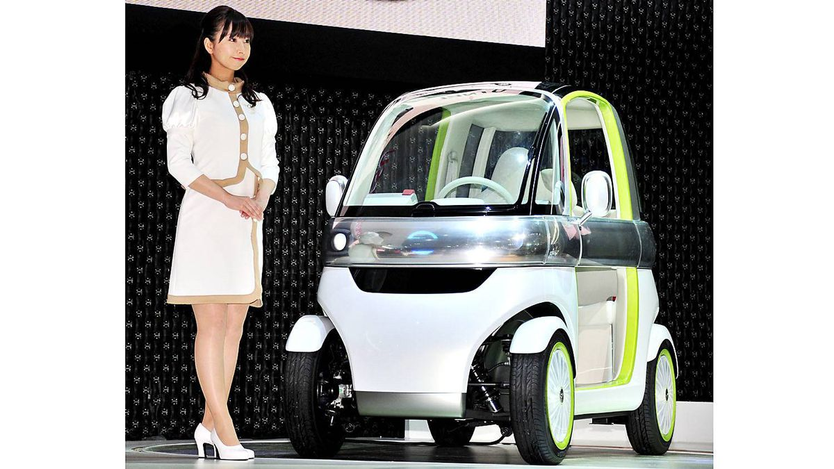 "Daihatsu's two-seater electric personal mobility concept vehicle called the ""Pico""."