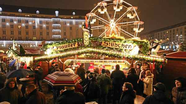 Christmas markets, Germany: Sip mulled wine in collectible mugs while browsing any of the 2,500 holiday markets across Germany. Be sure to visit to Dresden's Striezelmarkt, believed to be Germany's oldest.