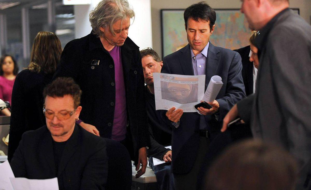 Globe editor John Stackhouse speaks with Bob Geldof.