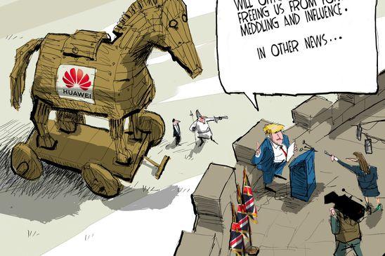 Editorial Cartoons for January, 2020