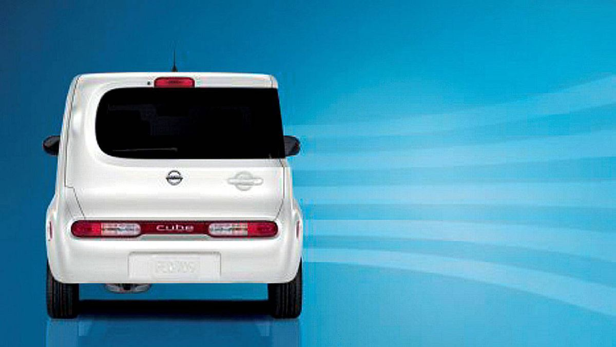 The cargo area of the Nissan Cube is massive and is accessed by a left-hinged door at the rear, which means the door opens in a curb-friendly way.