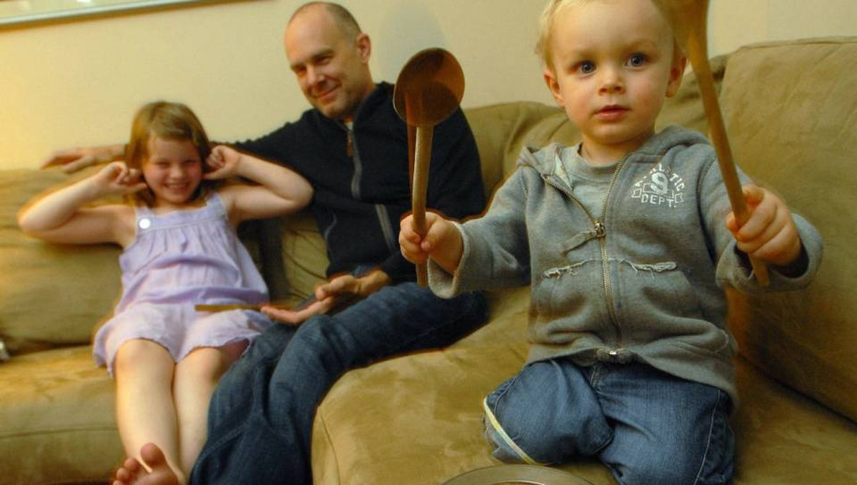 David O'Flaherty at home with his children, Tessa (7) and Koby (2) in Montreal.