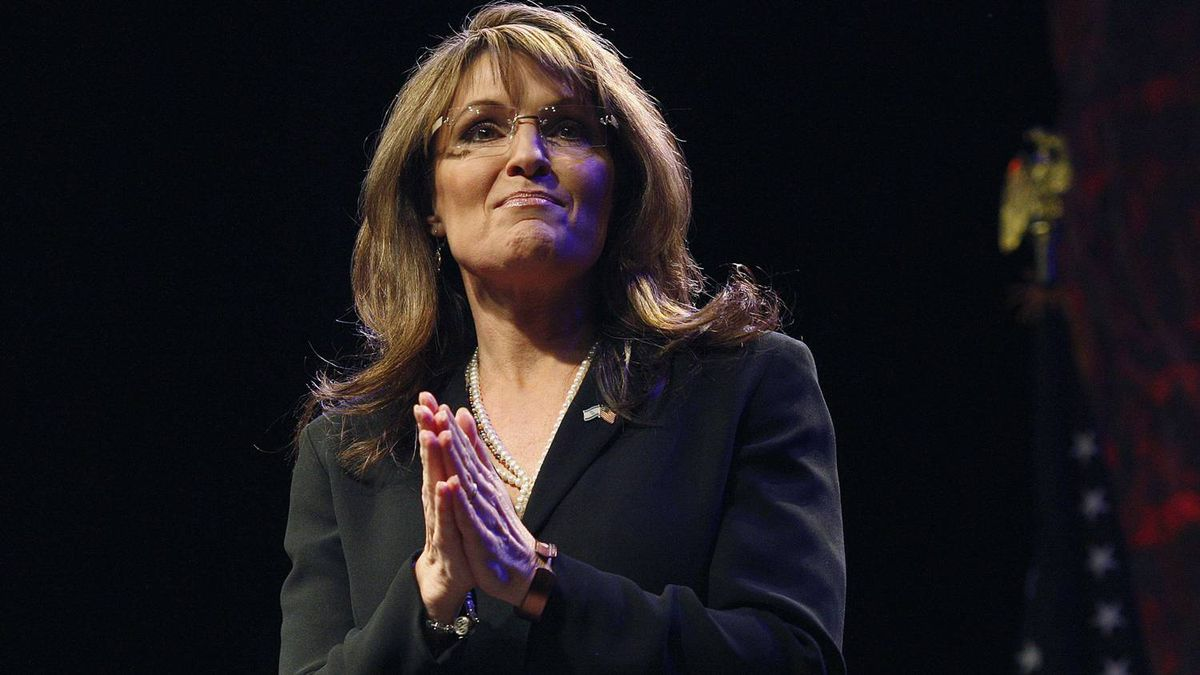 Sarah Palin speaks during the National Tea Party Convention in Nashville, Tenn., on Feb. 6, 2010.