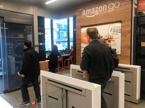 Amazon Go Shoppers Greeted By Store Full Of Cameras