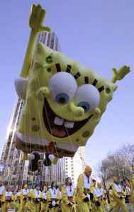 Recent research says SpongeBob SquarePants has negative effects on a preschooler's brain function. But he sure does make for a fun balloon. Year: 2008