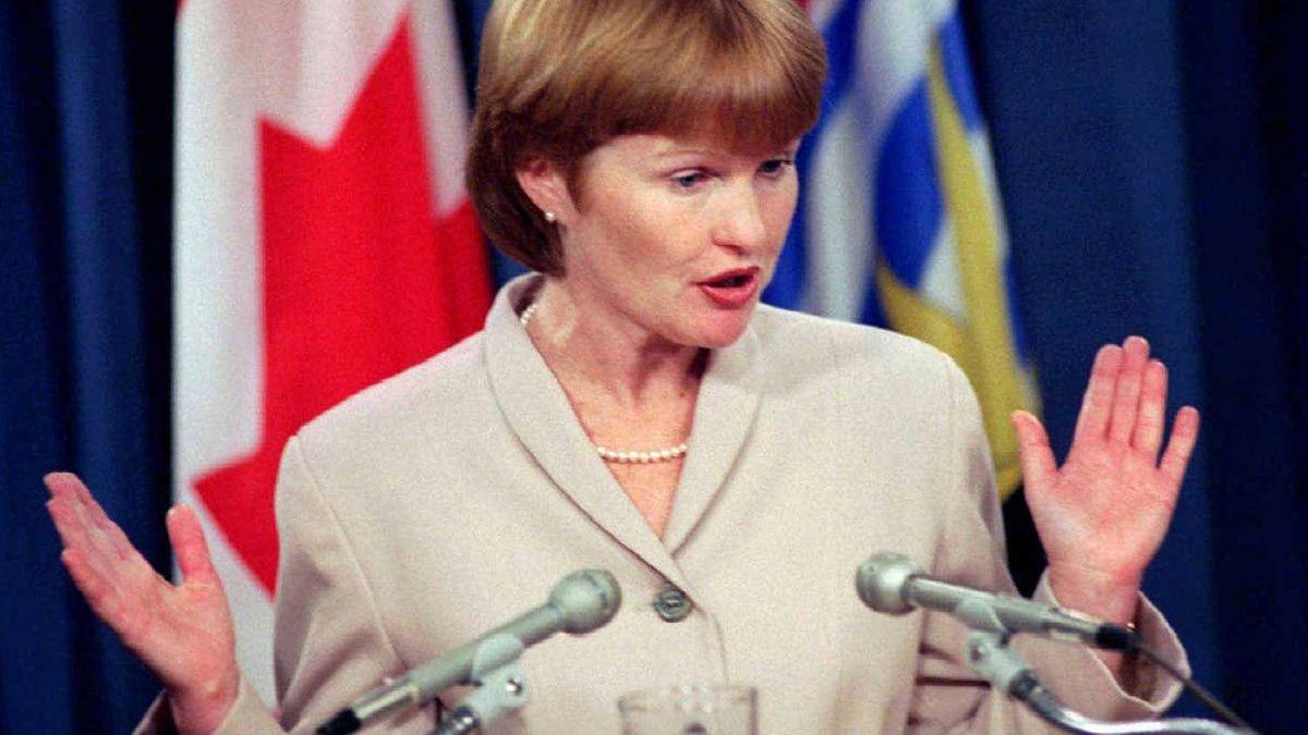 Joy MacPhail in Victoria, Jan 23, 1996.
