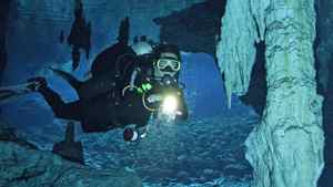 Some of the world's largest underwater caves are near Cancun.