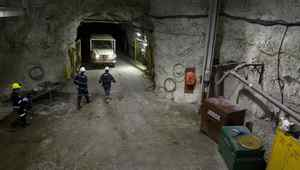 Miners at Cameco's McArthur River uranium mine in northern Saskatchewan. REUTERS/Dave Stobbe