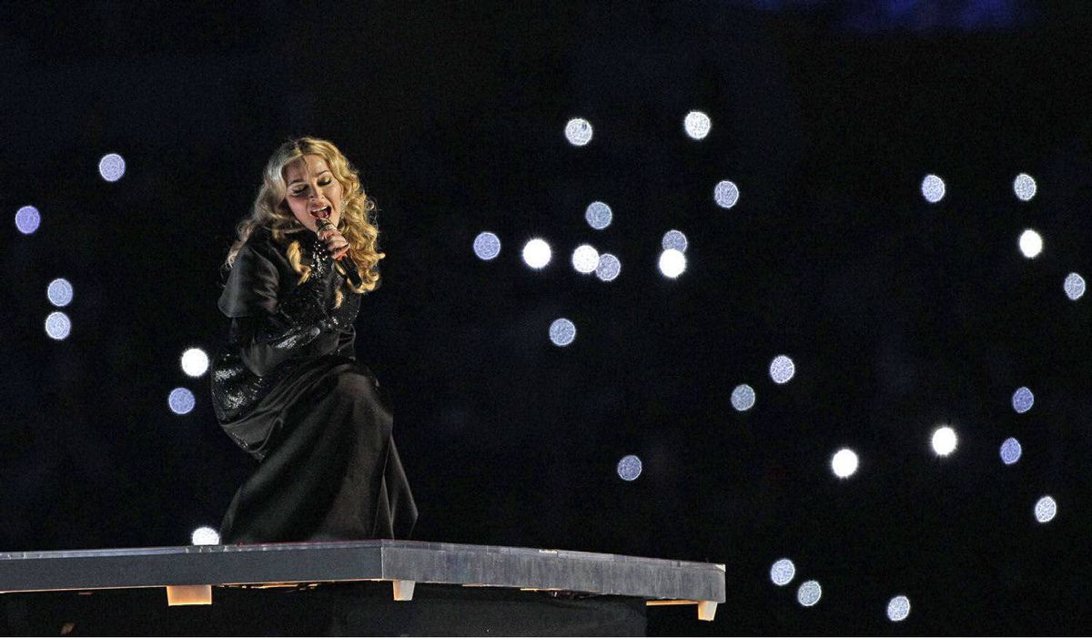 Madonna performs during halftime.