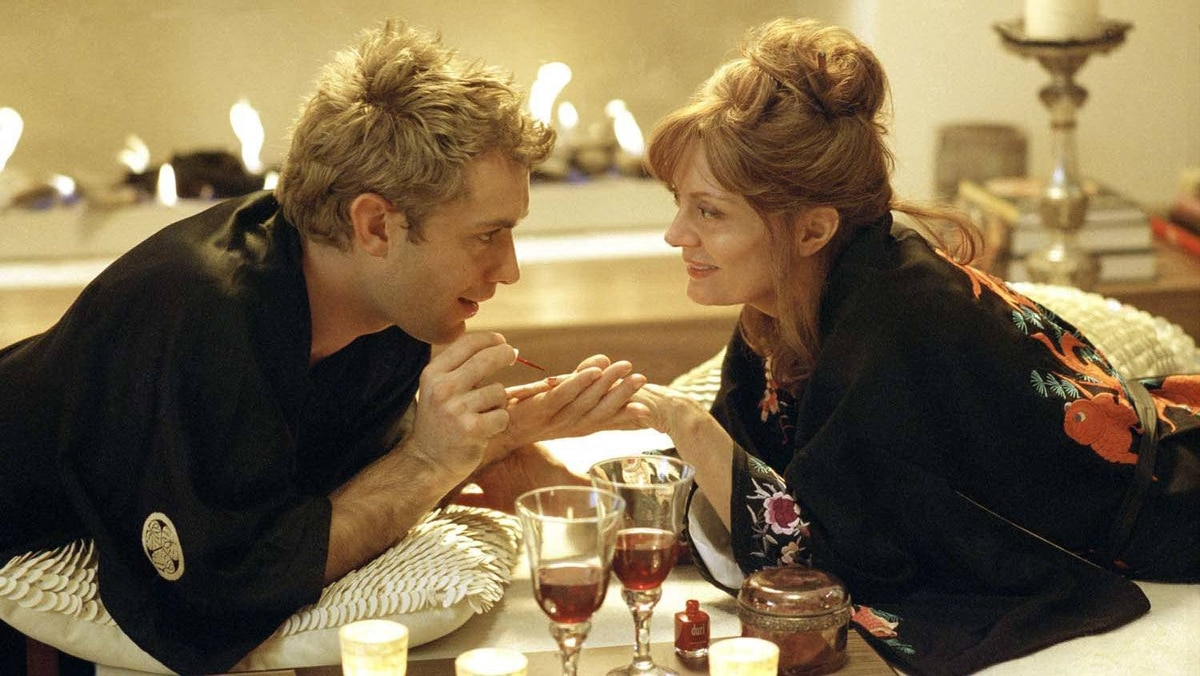 "With Jude Law in ""Alfie"" (2008)"