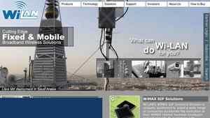 Screen capture of Wi-Lan homepage.