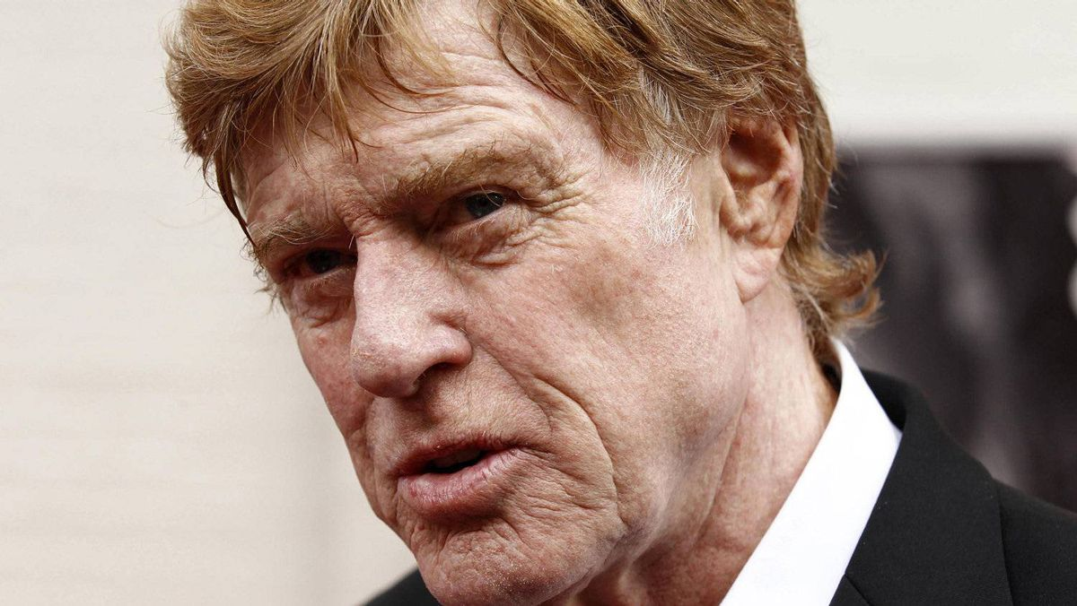 "Robert Redford arrives for the premiere of the film The Conspirato"" at Ford's Theatre in Washington, April 10, 2011."