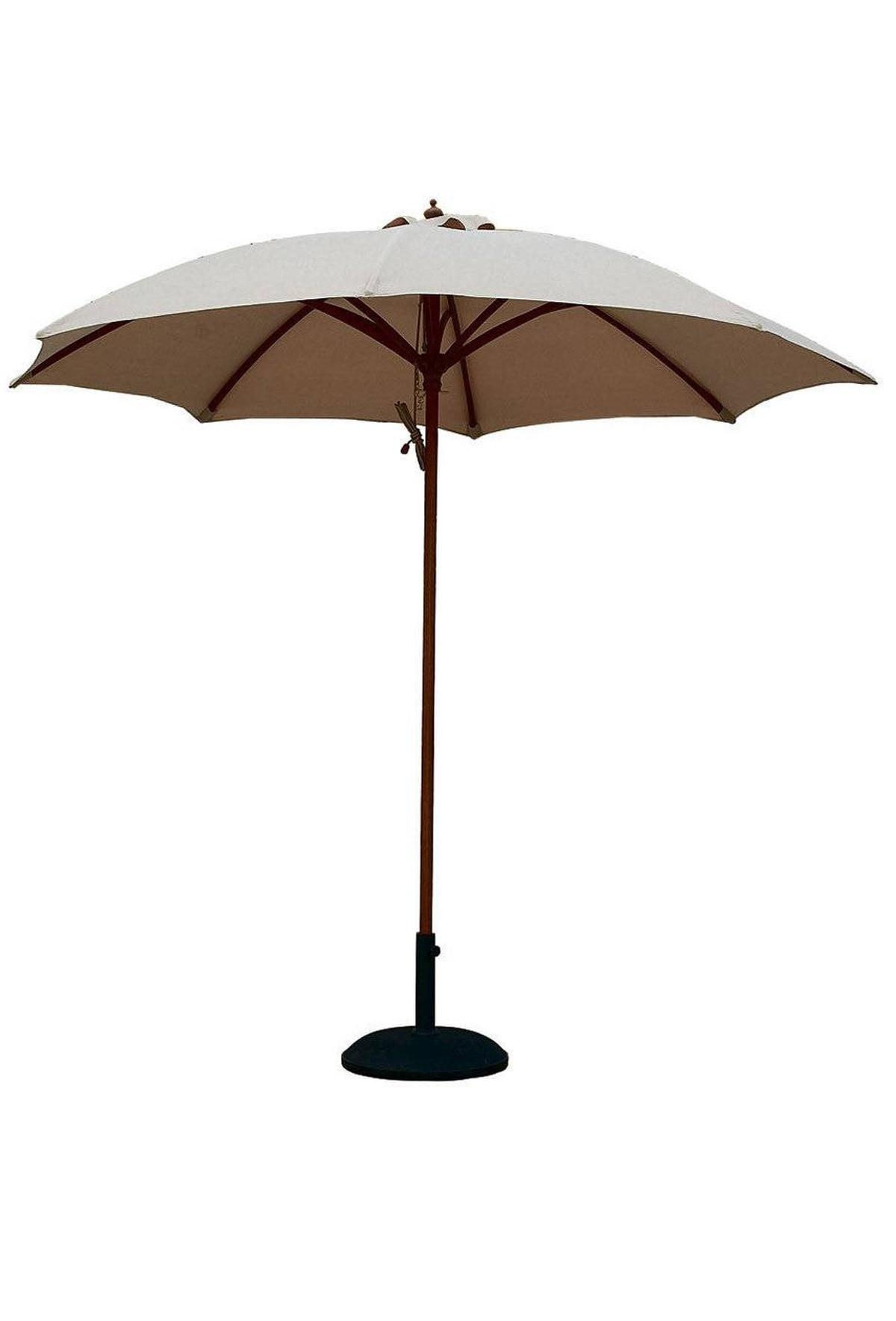 Vancouver Umbrella's nine-foot-wide Rain market umbrella is UV-coated, rain-resistant and features a sustainable Indonesian hardwood pole. $400 through www.vancouverumbrella.com.