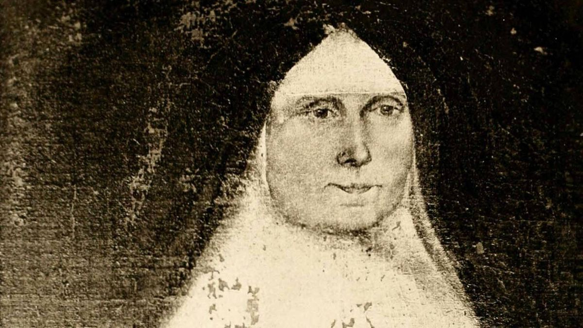 Esther Wheelwright, Mother Superior of the Ursulines at Quebec, from a portrait sent to her mother in 1761.