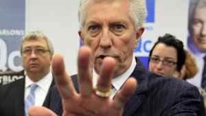 Bloc Quebecois Leader Gilles Duceppe speaks to supporters during a campaign stop in Gatineau on April 29, 2011.
