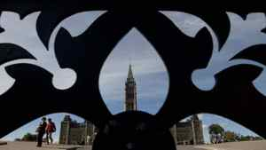 The Peace Tower in Ottawa.