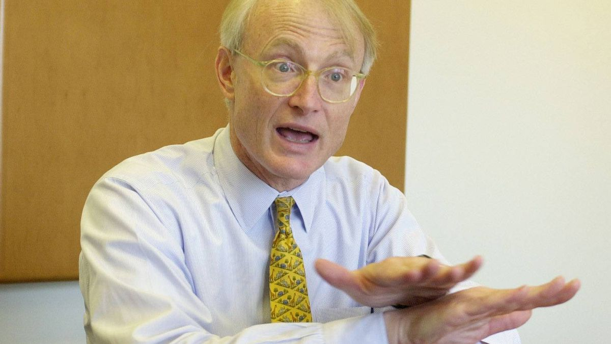 Michael Porter of the Harvard Business School is pictured in this file photo taken on on May 1, 2001.