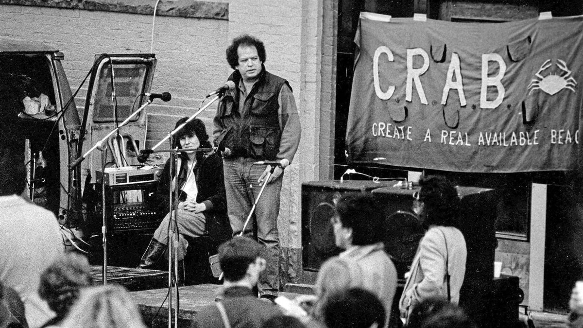 Jim Green as Executive Director of the Downtown Eastside Residents Association fighting for CRAB Park in 1985.