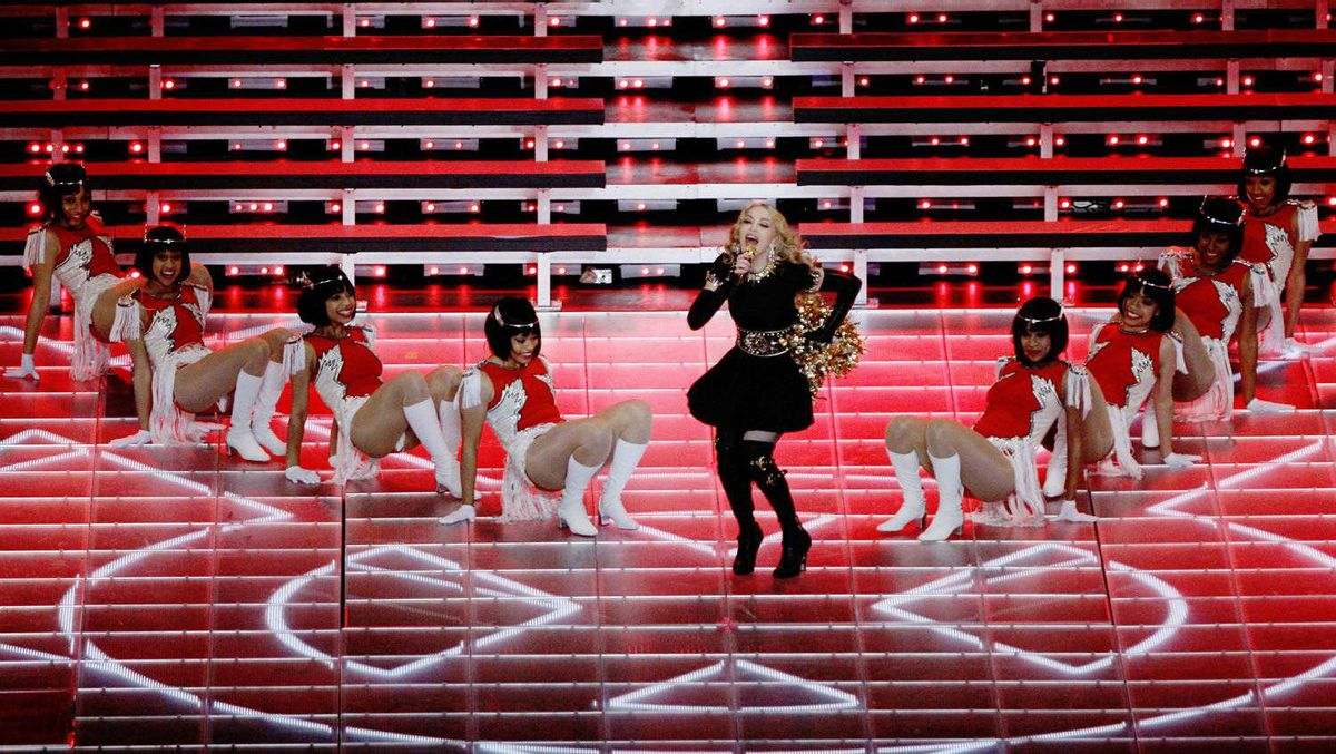 Madonna performs during the halftime show.