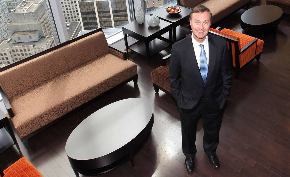 Donald Lindsay, President & Chief Executive Officer of Teck Resources Limited, in Teck's downtown Vancouver office at 550 Burrard Street Monday morning.