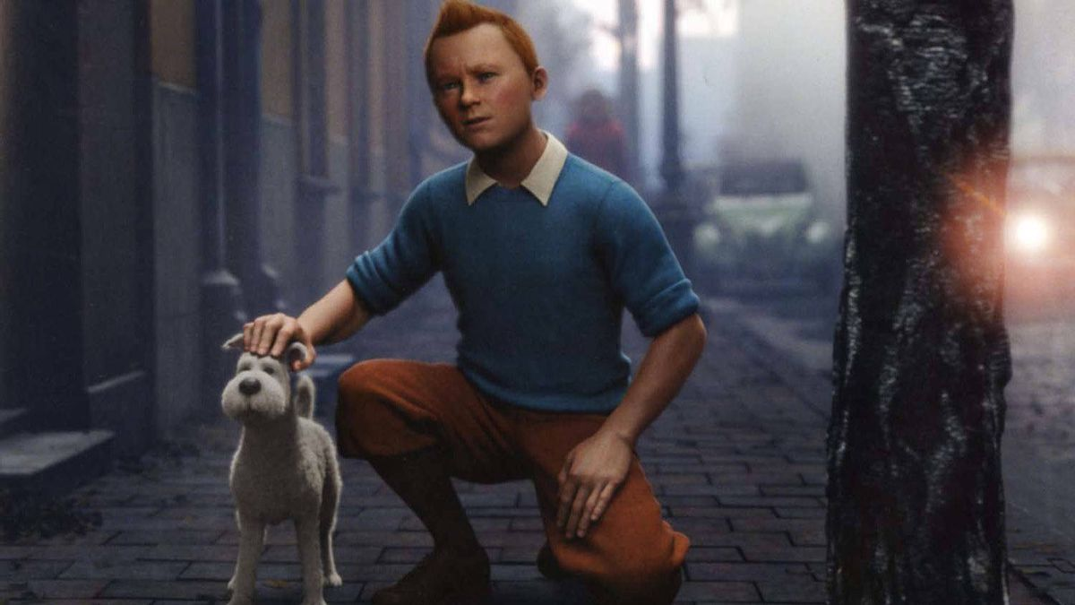 A scene from Steven Spielberg's The Adventure of Tintin.