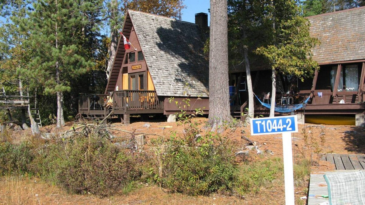 A side view of the cottage at Krista LaRiviere's northern Ontario island retreat. It was a rare find: most existing cottages with islands are passed down through families.
