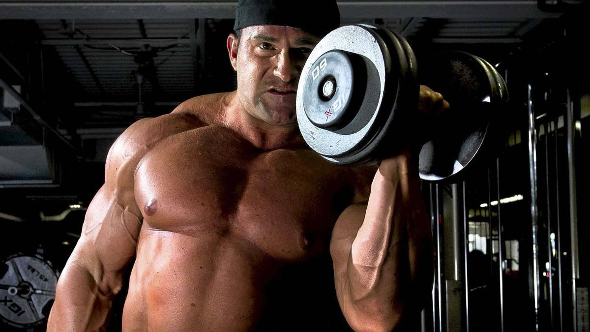 Mark Richman, a Canadian bodybuilder who is also a school teacher, works out at a gym in Whitby, Ont., on Aug. 22, 2011.