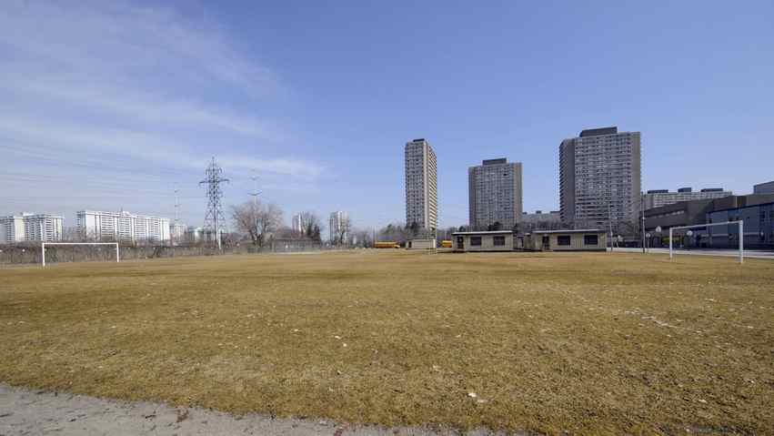 What is currently a field with portables behind Toronto's Valley Park Middle School will soon become a cricket oval. There is a large south Asian population in the Don Mills Rd. and Overlea Blvd area.