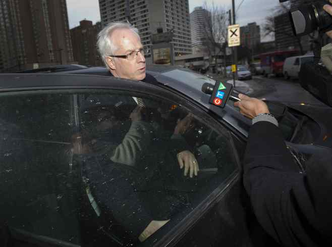 Former Nortel chief executive Frank Dunn, shown leaving court last month, is one three former executives accused of manipulating Nortel's financial reserves to push the company into profitability.