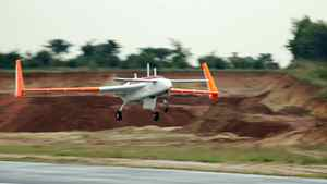 Rustom, the unmanned drone from India, completes a maiden test flight as part of the country's efforts to reduce military imports. The drone has a maximum flight time of 15 hours and is a prototype that the military intends to develop into more advanced models. India has accelerated military procurement, including the purchase of drones, since the 2008 attacks in Mumbai by Islamist gunmen which left 166 people dead.