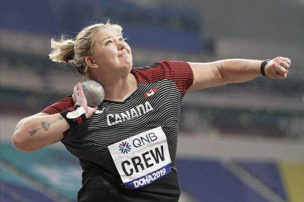 Canada's Brittany Crew qualifies for shot put final at world championships