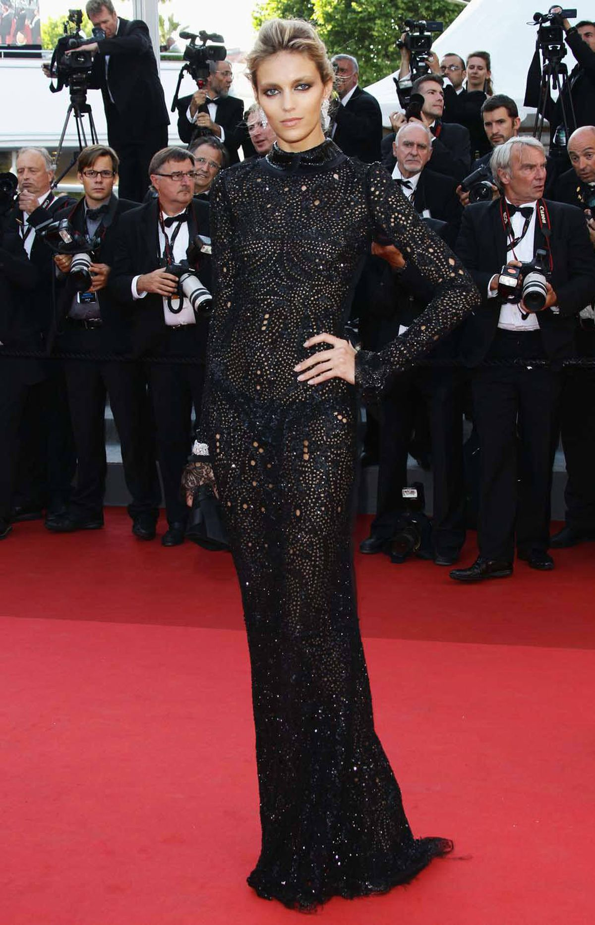 "Anja Rubik attends the ""This Must Be The Place"" premiere at the Cannes Film Festival on Friday."