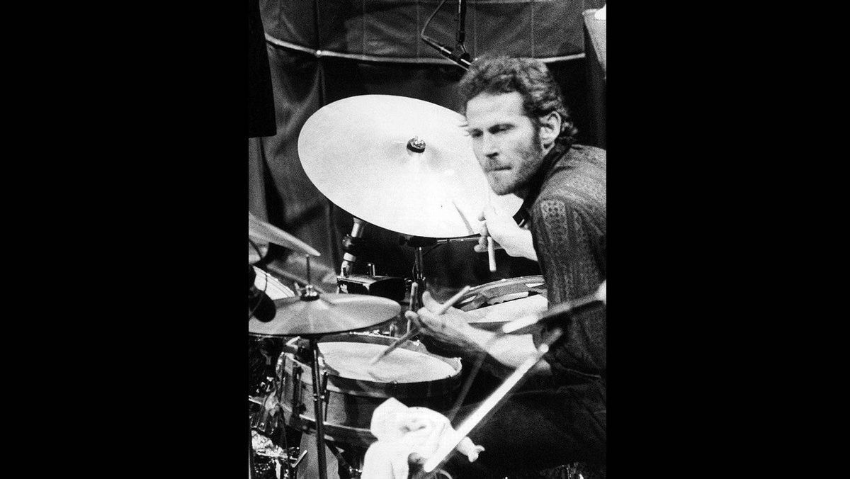 FILE - In this Nov. 27, 1976 file photo, Levon Helm, of The Band, playes drums at the band's final live performance at Winterland Auditorium in San Francisco. Helm, who was in the final stages of his battle with cancer, died Thursday, April 19, 2012 in New York. He was 71.