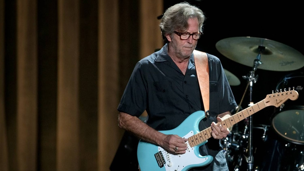 British guitarist Eric Clapton performs in Hong Kong on February 18, 2011