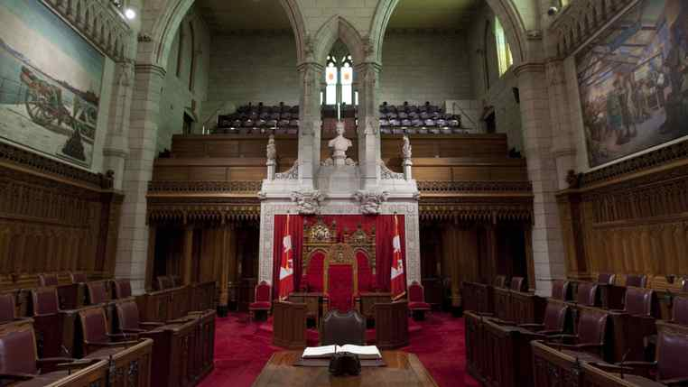 The Senate chamber is seen on Parliament Hil in Ottawa Thursday, August 27, 2009.