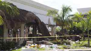 The damage caused by an explosion at the Grand Princess Riviera Hotel is shown in Playa del Carmen, Mexico Tuesday, Nov 16, 2010. Earthquakes, explosions and mudslides blew a hole in Foreign Affairs' budget for consular services to Canadians last year, creating the first deficit since the evacuation of Canadians from Lebanon five years ago.