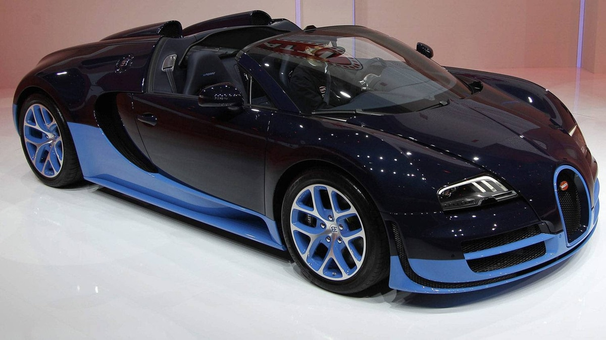 The new Bugatti Veyron Grand Sport Vitesse.