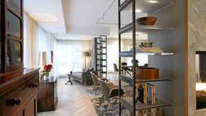 """Residence in The Prince Arthur, Yorkville, Toronto. Interior design by Michel Arcand and Don Parker of IN8 Design Inc. """"The image that really took with [the owners] was a white cube environment with Victorian furniture,"""" says Mr. Arcand."""