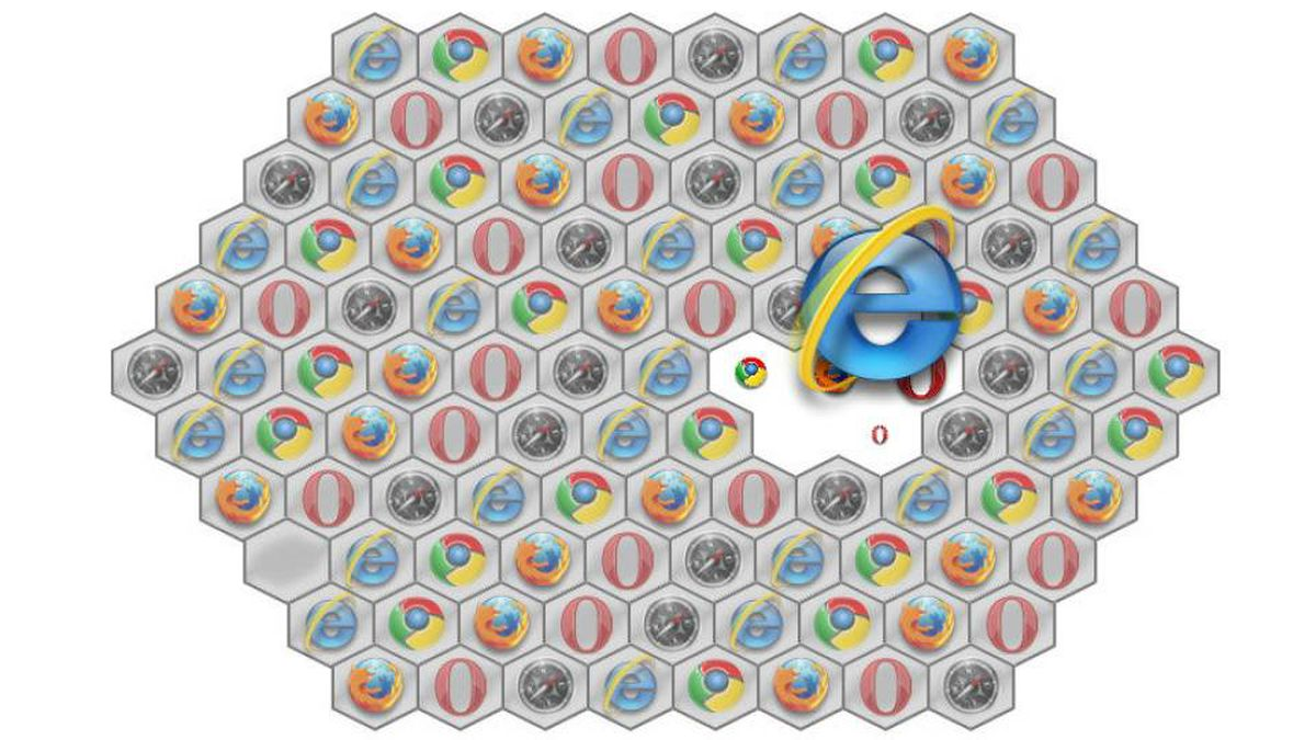 A screenshot of Browser Flip game on Microsoft's IE9 developer site. Browser Flip uses standard HTML, CSS and JavaScript markup to flip over tiles and expose hidden images.