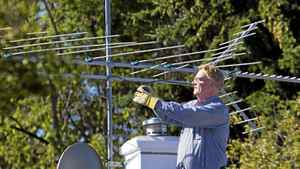 Peter Warner is an electrical engineer in Calgary with four antennas on his roof that pick up all the local stations 'The images are incredible,' he says