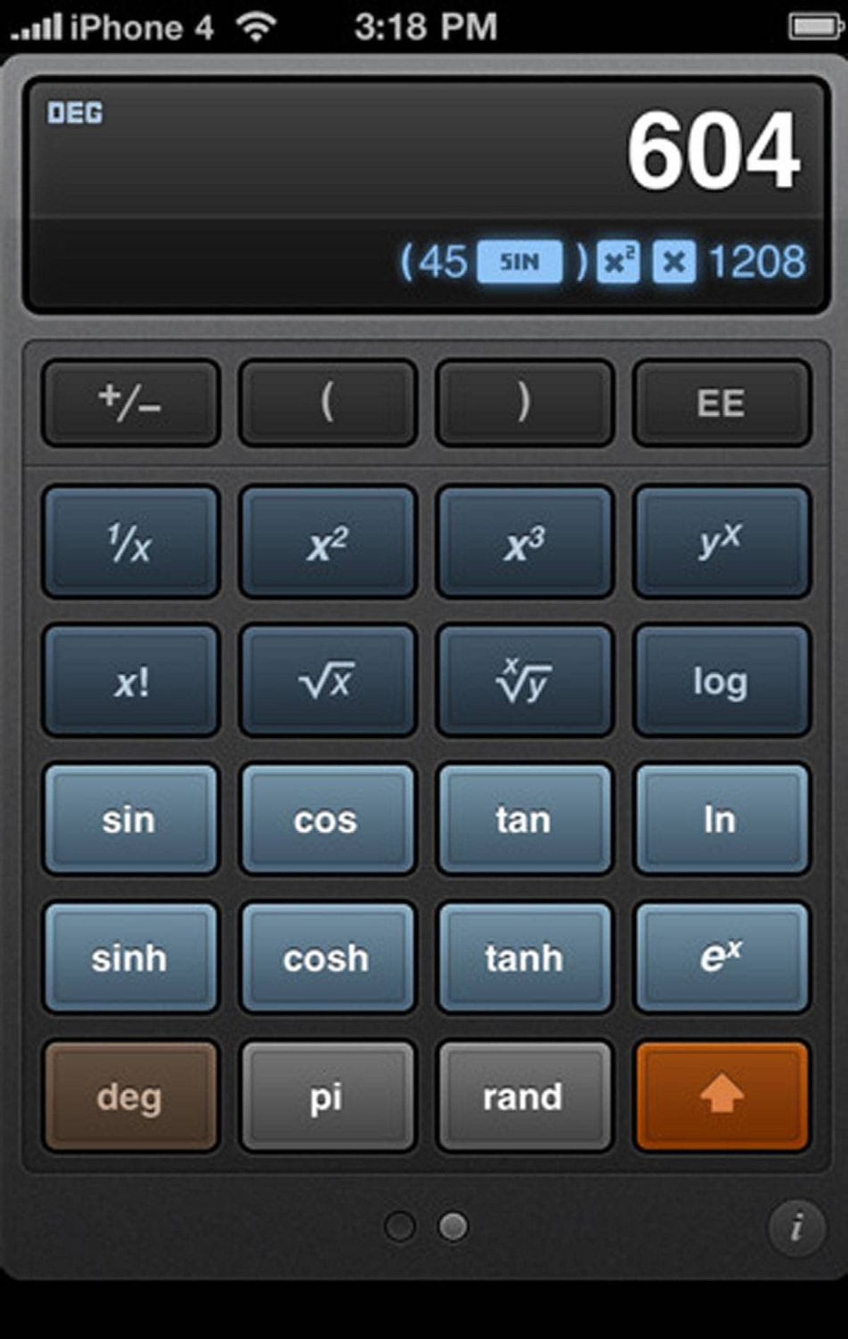 Calcbot The iPhone comes with a built-in calculator app. Why pay $1.99 to get another one? Calcbot adds two features worth paying for: a display that shows the process as well as the answer, and a History tape that remembers previous calculations. You can reuse your work from the History tape or send calculations via email, to have a more permanent record. ($1.99, tapbots.com)