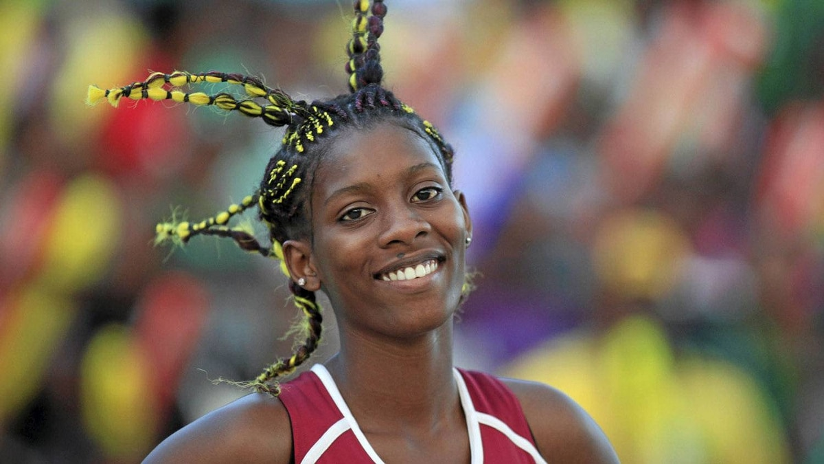 An athlete is seen during Jamaica's Inter-Secondary Schools Boys and Girls Athletics Championships, also known as Champs, at Kingston city March 31, 2012. REUTERS/Gilbert Bellamy