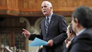 Public Safety Minister Vic Toews speaks during Question Period in the House of Commons on Feb. 15, 2012.