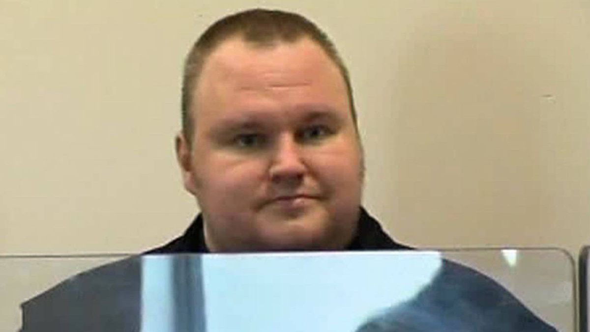 Megaupload founder Kim Dotcom appears in Auckland's North Shore District Court after his arrest in this still image taken from a Jan. 20, 2012 video.