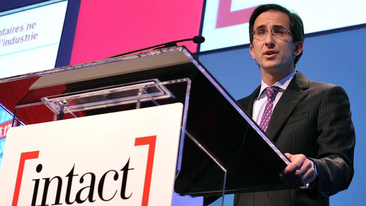 Intact Financial Corp. chief executive Charles Brindamour speaks during the annual general meeting of shareholders in Toronto on May 4, 2011.