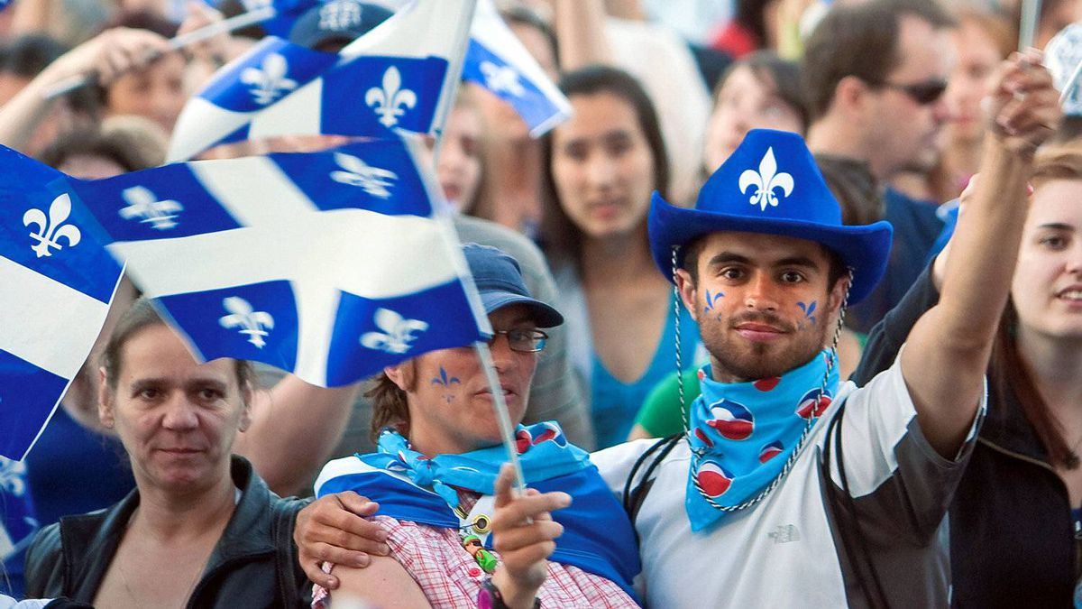 Quebeckers celebrate St. Jean Baptiste Day on the Plains of Abraham in 2009.