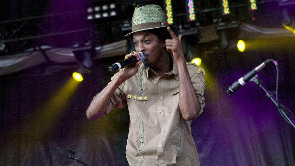 Somali-Canadian rapper K'naan performs at the Rock The Bells Festival at the Molson Amphitheatre in Toronto on July 5, 2009.