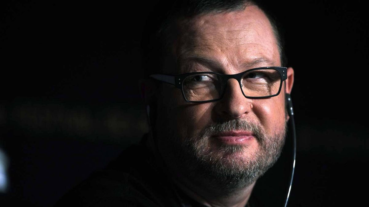 Danish director Lars von Trier at a Cannes press conference.