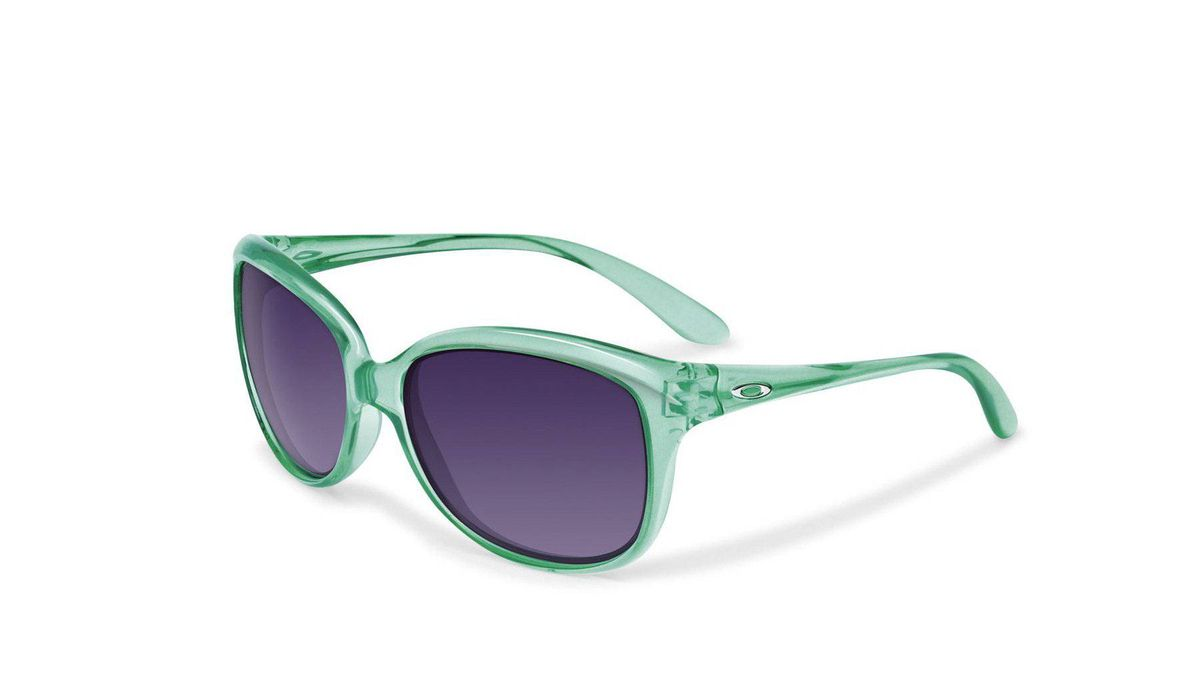 Stylish shades Brighten up your beach look in Oakley's cucumber-melon-coloured Pampered sunglasses. The cheery shades have a flexible frame that can withstand thermal shock and extended heat exposure. A plutonite lens offers complete protection from harmful UVA/UVB/UVC rays and, if your eyes are particularly light sensitive, you can upgrade further to polarized lenses. Starting at $130; ca.oakley.com